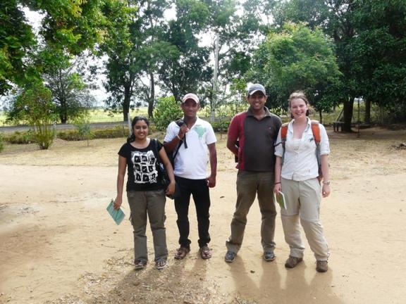 Kumari, Tharanga, Sameera and Me.