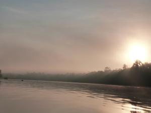 Sunrise on the Kinabatangan River