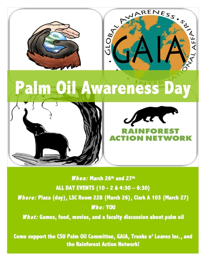 Palm Oil Awareness Flier