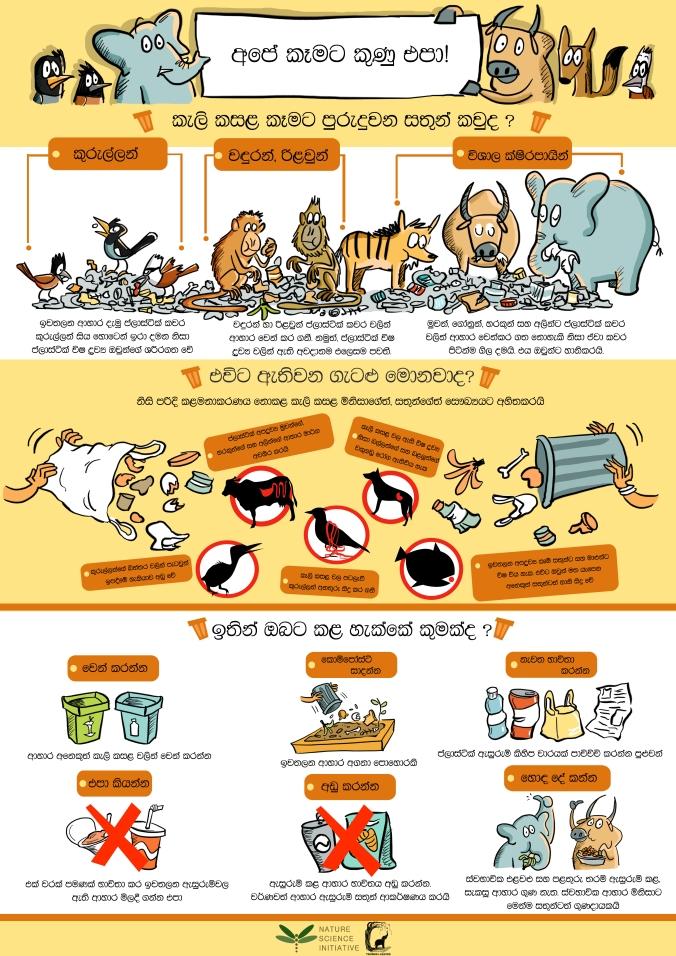 garbage-poster-sinhala-plus-logo